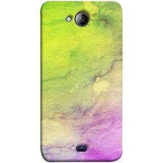 FUSON Designer Back Case Cover for Micromax Unite 3 Q372 :: Micromax Q372 Unite 3 (Artwork Acid Bright Wallpaper Purple Green Mix)