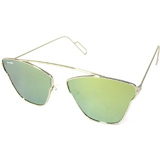 60131e6c1c Buy Silver Kartz Silver UV Protection Aviator Sunglasses(196) Online - Get  83% Off