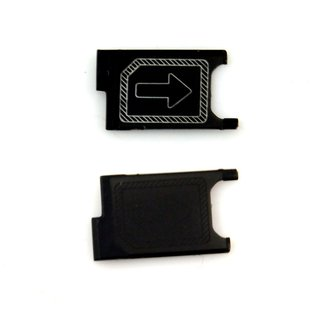 Sim Card Slot Sim Tray Holder Replacement Part for Sony Xperia Z3 Mini(BLACK)