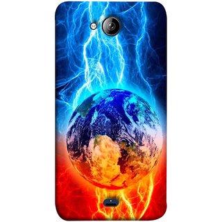 FUSON Designer Back Case Cover for Micromax Unite 3 Q372 :: Micromax Q372 Unite 3 (Lightning On Globe Earth Space Beautiful Picture )