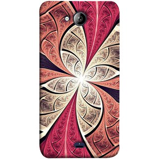 FUSON Designer Back Case Cover for Micromax Unite 3 Q372 :: Micromax Q372 Unite 3 (Heart Shape Pink Leaves Rivers Artist Perfect Waves )