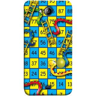 FUSON Designer Back Case Cover for Micromax Unite 3 Q372 :: Micromax Q372 Unite 3 (Dice Pair Nice Game India Blue Children Squares Girls )