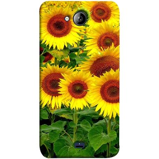 FUSON Designer Back Case Cover for Micromax Unite 3 Q372 :: Micromax Q372 Unite 3 (Field Of Bright Happy Sunflowers Outside Oil Food)