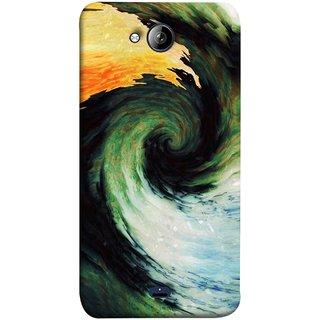 FUSON Designer Back Case Cover for Micromax Unite 3 Q372 :: Micromax Q372 Unite 3 (Galaxy Universe Lava Icy Water Green Land )
