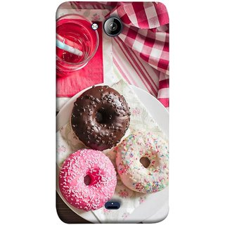 FUSON Designer Back Case Cover for Micromax Unite 3 Q372 :: Micromax Q372 Unite 3 (Glazed Donuts Sweet Desserts Party Cold Soft Drink)