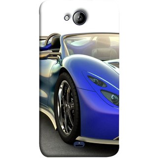 FUSON Designer Back Case Cover for Micromax Unite 3 Q372 :: Micromax Q372 Unite 3 (Italia Wild Beautiful Design Tyres Front Lights )