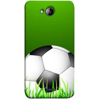 FUSON Designer Back Case Cover for Micromax Unite 3 Q372 :: Micromax Q372 Unite 3 (Football Green Ground Ball Black White Fifa League )