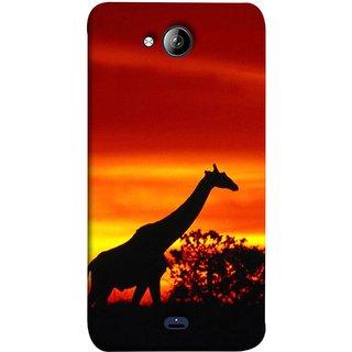 FUSON Designer Back Case Cover for Micromax Unite 3 Q372 :: Micromax Q372 Unite 3 (Africa Sunset Giraffe Evening Wildlife Animals )