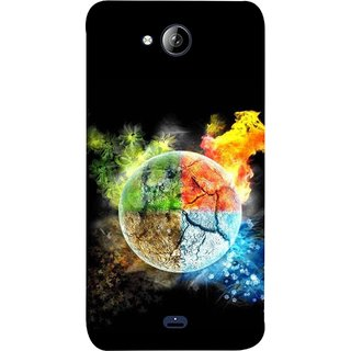 FUSON Designer Back Case Cover for Micromax Unite 3 Q372 :: Micromax Q372 Unite 3 (Greenery Whole Circle Earth Cracks Blue Ice)