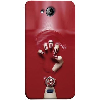 FUSON Designer Back Case Cover for Micromax Unite 3 Q372 :: Micromax Q372 Unite 3 (Lady Hand With Maroon Watch Nail Polish )
