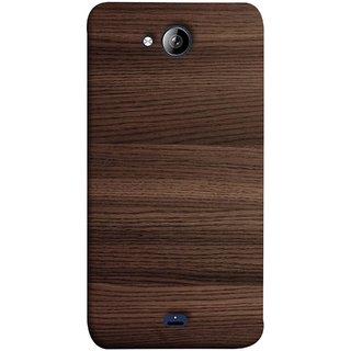 FUSON Designer Back Case Cover for Micromax Unite 3 Q372 :: Micromax Q372 Unite 3 (Strips Brown Gray Sunmica Plywood Back Art Laminate)
