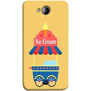 FUSON Designer Back Case Cover for Micromax Unite 3 Q372 :: Micromax Q372 Unite 3 (Ice Cone Pineapple Flavour Wheels Hearts Shade )