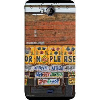 FUSON Designer Back Case Cover for Micromax Unite 3 Q372 :: Micromax Q372 Unite 3 (Decorated Goods Carrier On Indian Road Stop Dil Tera)
