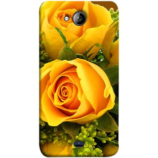 FUSON Designer Back Case Cover for Micromax Unite 3 Q372 :: Micromax Q372 Unite 3 (Friendship Yellow Roses Chocolate Hearts For Valentines Day)