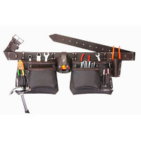 SIR-G, 11 Pocket Oil Tanned Leather Top Of The Line Oil Tanned Leather Tool Bag