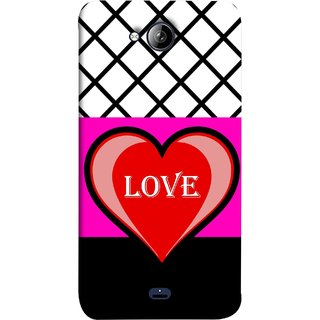 FUSON Designer Back Case Cover for Micromax Unite 3 Q372 :: Micromax Q372 Unite 3 (Pink Red Wallpapers Flowers Lovers Boyfriends Black)
