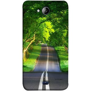FUSON Designer Back Case Cover for Micromax Unite 3 Q372 :: Micromax Q372 Unite 3 (Road Surrounded By Mountains Beautiful Old Trees )