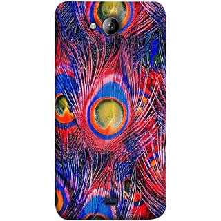 FUSON Designer Back Case Cover for Micromax Unite 3 Q372 :: Micromax Q372 Unite 3 (Nice Colourful Long Peacock Feathers Beak)