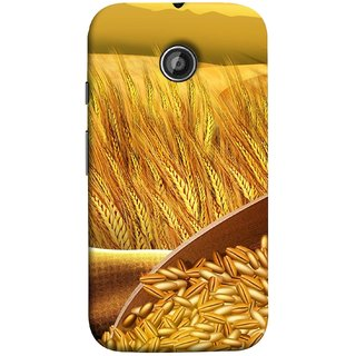 FUSON Designer Back Case Cover for Motorola Moto E ::  Motorola Moto E XT1021 :: Motorola Moto E Dual SIM :: Motorola Moto E Dual SIM XT1022 :: Motorola Moto E Dual TV XT1025 (Wheat Farmers Farms Morning Sunlight Bright Day)