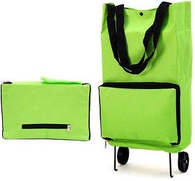 Foldable 2 Wheel Shopping Trolley, Lightweight Folding Travel Bag