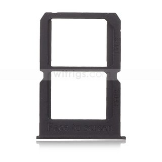 Sim Card Slot Sim Tray Holder Replacement Part for 1+3 (GRAPHITE BLACK)