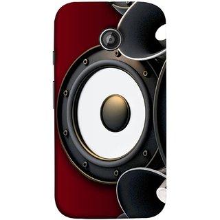 FUSON Designer Back Case Cover for Motorola Moto E ::  Motorola Moto E XT1021 :: Motorola Moto E Dual SIM :: Motorola Moto E Dual SIM XT1022 :: Motorola Moto E Dual TV XT1025 (Black Speaker Music Listen Youth Boys)