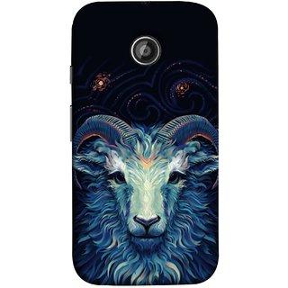 FUSON Designer Back Case Cover for Motorola Moto E2 :: Motorola Moto E Dual SIM (2nd Gen) :: Motorola Moto E 2nd Gen 3G XT1506 :: Motorola Moto E 2nd Gen 4G XT1521 (Bail Goat Horn Strong Bakara Style Design)