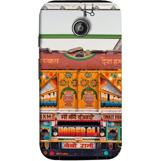 FUSON Designer Back Case Cover for Motorola Moto E ::  Motorola Moto E XT1021 :: Motorola Moto E Dual SIM :: Motorola Moto E Dual SIM XT1022 :: Motorola Moto E Dual TV XT1025 (Decorated Goods Carrier On Indian Road Stop Dil Tera)