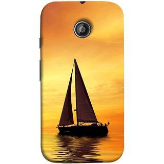FUSON Designer Back Case Cover for Motorola Moto E ::  Motorola Moto E XT1021 :: Motorola Moto E Dual SIM :: Motorola Moto E Dual SIM XT1022 :: Motorola Moto E Dual TV XT1025 (Sailing Ships Sailboats Ocean Pond Sea River)
