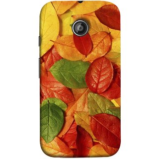 FUSON Designer Back Case Cover for Motorola Moto E2 :: Motorola Moto E Dual SIM (2nd Gen) :: Motorola Moto E 2nd Gen 3G XT1506 :: Motorola Moto E 2nd Gen 4G XT1521 (Nature Colour Big Lotus Leaves Network Of Veins)