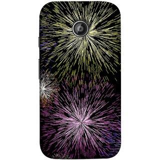 FUSON Designer Back Case Cover for Motorola Moto E ::  Motorola Moto E XT1021 :: Motorola Moto E Dual SIM :: Motorola Moto E Dual SIM XT1022 :: Motorola Moto E Dual TV XT1025 (Dark Night Fireworks Diwali Dipawali Flowers )