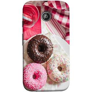 FUSON Designer Back Case Cover for Motorola Moto E ::  Motorola Moto E XT1021 :: Motorola Moto E Dual SIM :: Motorola Moto E Dual SIM XT1022 :: Motorola Moto E Dual TV XT1025 (Glazed Donuts Sweet Desserts Party Cold Soft Drink)