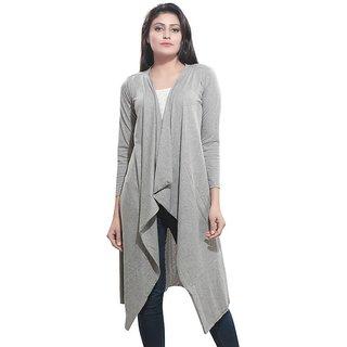 Bfly Women's Viscose Long Shrug (Grey)