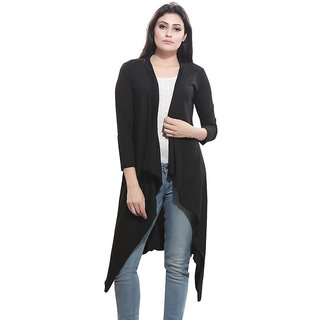 Bfly Women's Viscose Long Shrug (Black)