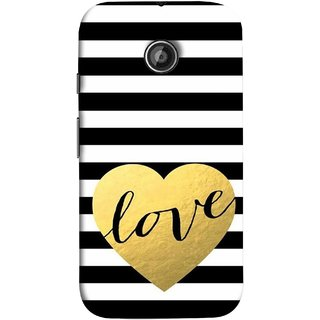 FUSON Designer Back Case Cover for Motorola Moto E2 :: Motorola Moto E Dual SIM (2nd Gen) :: Motorola Moto E 2nd Gen 3G XT1506 :: Motorola Moto E 2nd Gen 4G XT1521 (Hearts Lovely Girls True Love Dark Font)
