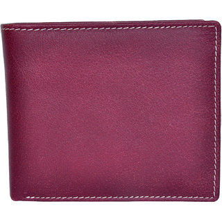 Chandair Pure Leather Dark Purpule Mens Wallet (WL-NW-016)