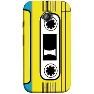 FUSON Designer Back Case Cover for Motorola Moto E ::  Motorola Moto E XT1021 :: Motorola Moto E Dual SIM :: Motorola Moto E Dual SIM XT1022 :: Motorola Moto E Dual TV XT1025 (Tape Cassette Black Film Screws Old Player)