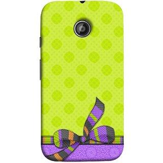 FUSON Designer Back Case Cover for Motorola Moto E2 :: Motorola Moto E Dual SIM (2nd Gen) :: Motorola Moto E 2nd Gen 3G XT1506 :: Motorola Moto E 2nd Gen 4G XT1521 (Pista Green Colour Gift Wrap Packing Wallpaper)