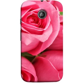 FUSON Designer Back Case Cover for Motorola Moto E2 :: Motorola Moto E Dual SIM (2nd Gen) :: Motorola Moto E 2nd Gen 3G XT1506 :: Motorola Moto E 2nd Gen 4G XT1521 (Close Up Red Roses Chocolate Hearts For Valentines Day)