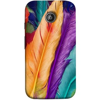 FUSON Designer Back Case Cover for Motorola Moto E2 :: Motorola Moto E Dual SIM (2nd Gen) :: Motorola Moto E 2nd Gen 3G XT1506 :: Motorola Moto E 2nd Gen 4G XT1521 (Birds Feathers Parrot Peacock Best Cover Design)