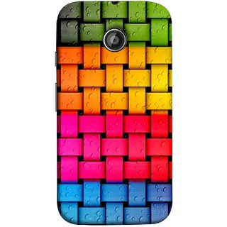 FUSON Designer Back Case Cover for Motorola Moto E2 :: Motorola Moto E Dual SIM (2nd Gen) :: Motorola Moto E 2nd Gen 3G XT1506 :: Motorola Moto E 2nd Gen 4G XT1521 (Bright And Beautiful Colour Strips And Band Glossy)