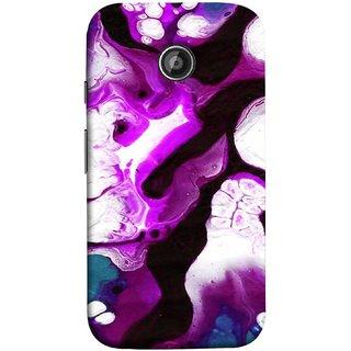 FUSON Designer Back Case Cover for Motorola Moto E ::  Motorola Moto E XT1021 :: Motorola Moto E Dual SIM :: Motorola Moto E Dual SIM XT1022 :: Motorola Moto E Dual TV XT1025 (Purple Painting Wallpaper White Iceberg River Flow)
