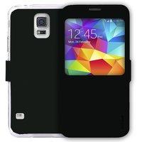 AirCase Flip Case With Big Windows for Samsung Galaxy S5 BLACK