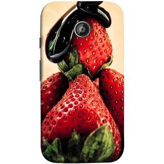 FUSON Designer Back Case Cover for Motorola Moto E ::  Motorola Moto E XT1021 :: Motorola Moto E Dual SIM :: Motorola Moto E Dual SIM XT1022 :: Motorola Moto E Dual TV XT1025 (Best Fresh Strawberry Sweet Dish Homemade Recipes)