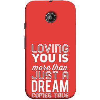 FUSON Designer Back Case Cover for Motorola Moto E2 :: Motorola Moto E Dual SIM (2nd Gen) :: Motorola Moto E 2nd Gen 3G XT1506 :: Motorola Moto E 2nd Gen 4G XT1521 (Comes True Love You Forever Valentine Couples Lovers)