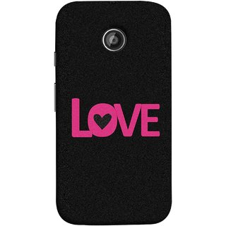 FUSON Designer Back Case Cover for Motorola Moto E2 :: Motorola Moto E Dual SIM (2nd Gen) :: Motorola Moto E 2nd Gen 3G XT1506 :: Motorola Moto E 2nd Gen 4G XT1521 (Love Life Forever Hearts Real Love True Lovers Valentine)