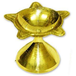Brass Panchbatti Diya Golden Panch Arti Diya Decorative Diya