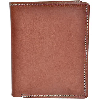 Chandair Pure Leather Brunette Brown Mens Wallet (WL-NW-026)