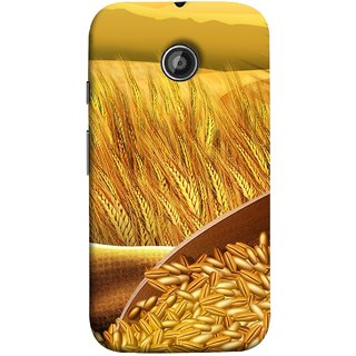 FUSON Designer Back Case Cover for Motorola Moto E2 :: Motorola Moto E Dual SIM (2nd Gen) :: Motorola Moto E 2nd Gen 3G XT1506 :: Motorola Moto E 2nd Gen 4G XT1521 (Wheat Farmers Farms Morning Sunlight Bright Day)