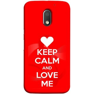 FUSON Designer Back Case Cover for Motorola Moto E3 :: Motorola Moto E (3rd Gen) (Beautiful Hearts Always Stay Silent And Love Other Work Resolve)